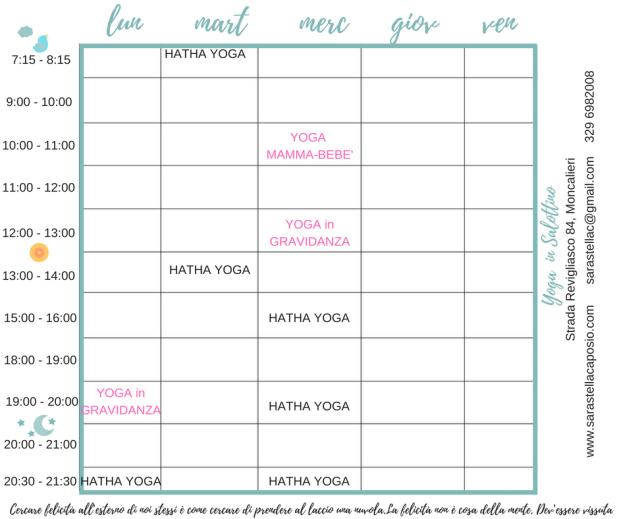 yoga al salottino -la settimana